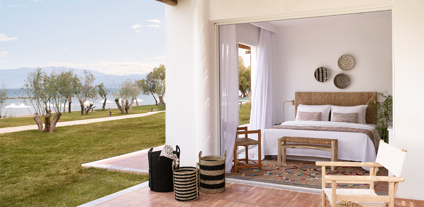 02-Garden-View-Family-Cabana-Accommodation-Casa-Marron-Peloponnese